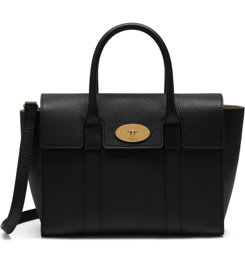 MULBERRY Small Bayswater Leather Satchel, Main, color, 001
