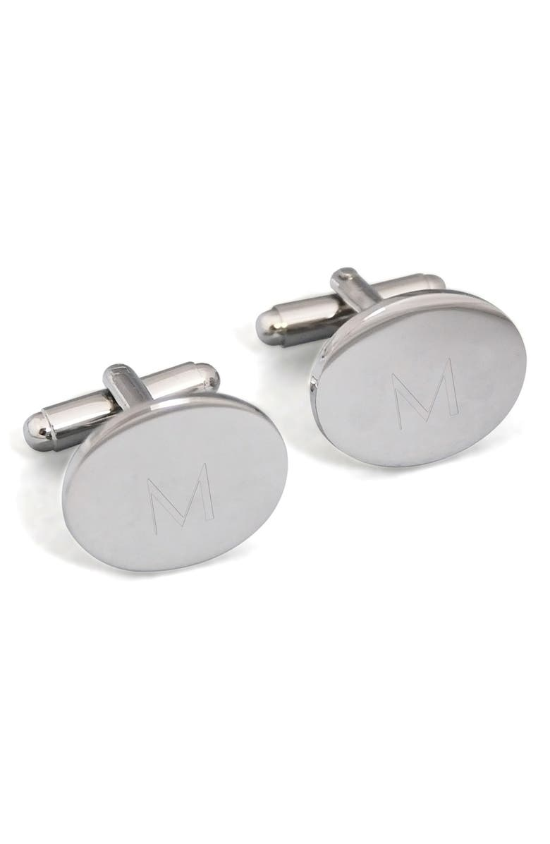 CATHY'S CONCEPTS Monogram Oval Cuff Links, Main, color, 052