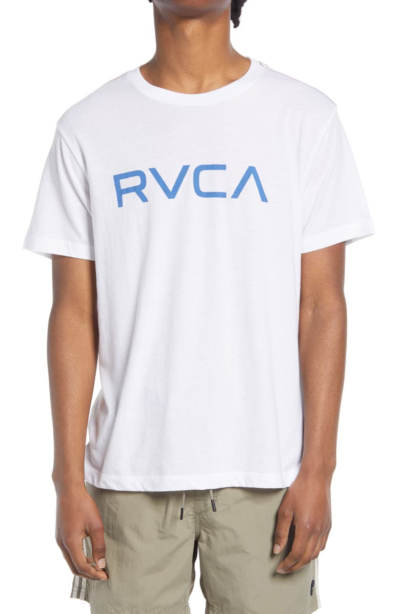 RVCA Big RVCA Logo T-Shirt, Main, color, WHITE