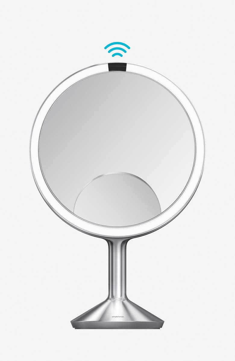 SIMPLEHUMAN Trio Max Sensor Mirror, Main, color, BRUSHED STAINLESS STEEL