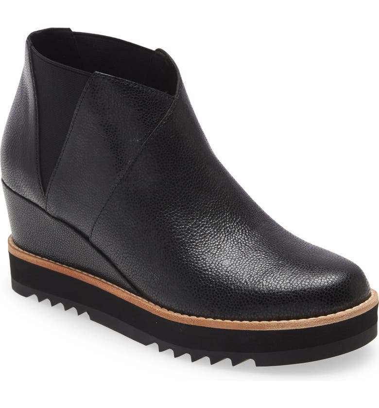 EILEEN FISHER Caddy Wedge Boot, Main, color, BLACK
