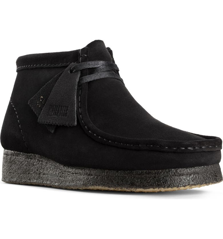 CLARKS<SUP>®</SUP> ORIGINALS Wallabee Chukka Boot, Main, color, BLACK SUEDE