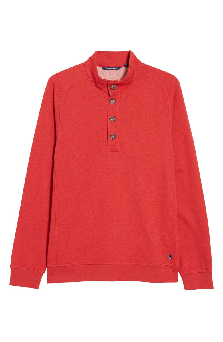 CUTTER & BUCK Saturday Mock Neck Sweater, Main, color, RED HEATHER