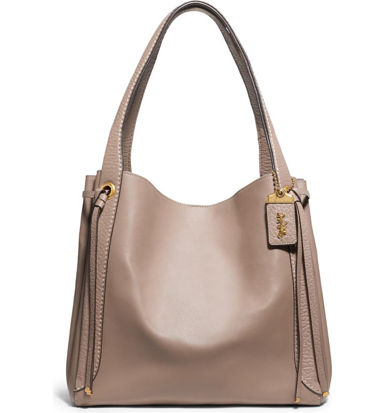 COACH Harmony Mixed Leather Hobo, Main, color, 283