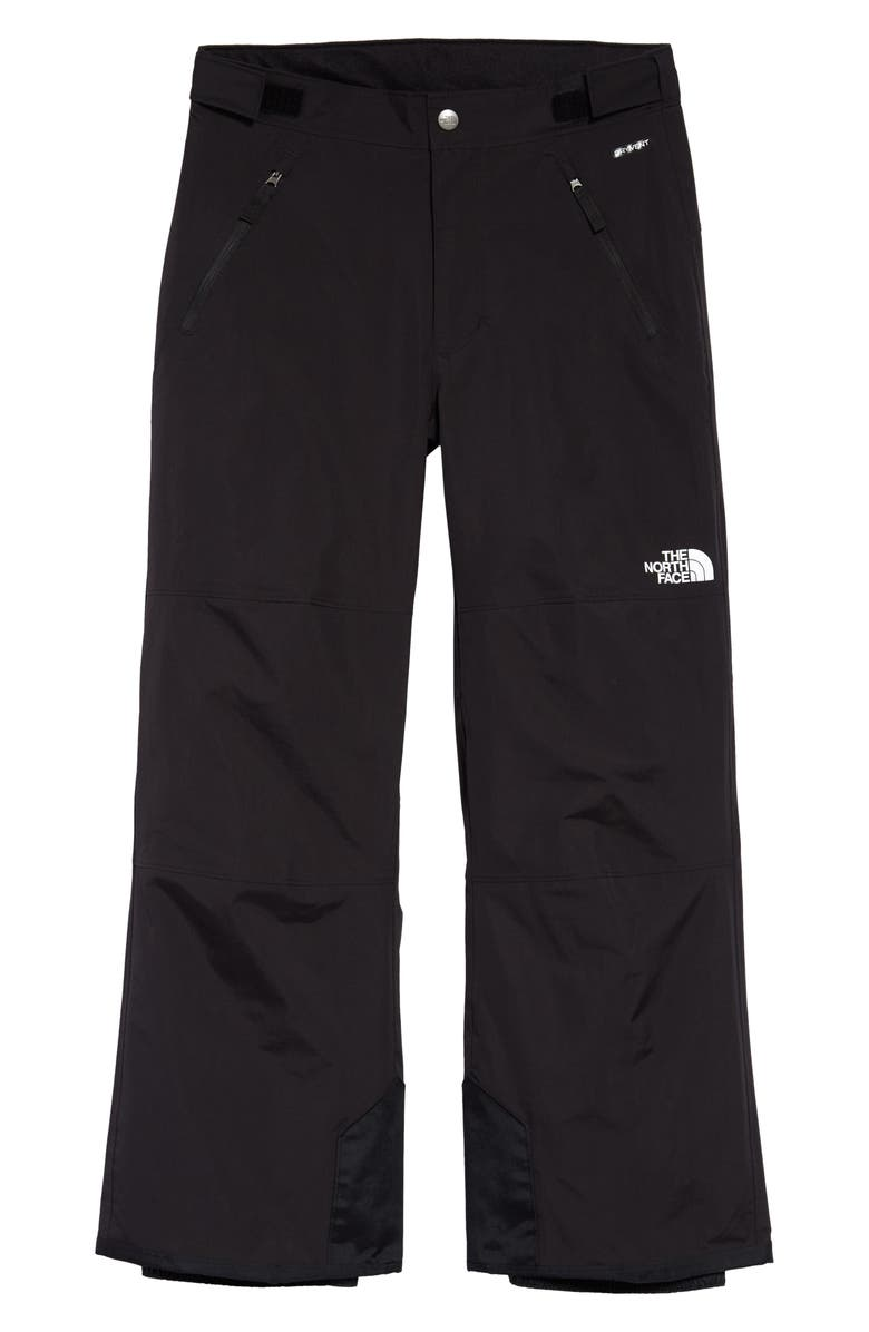 THE NORTH FACE Kids' 'Freedom' Waterproof Heatseeker<sup>™</sup> Insulated Snow Pants, Main, color, TNF BLACK/ TNF WHITE