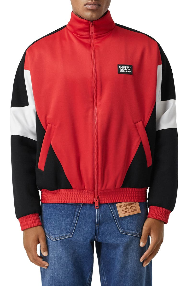 BURBERRY Astala Colorblock Track Jacket, Main, color, 600