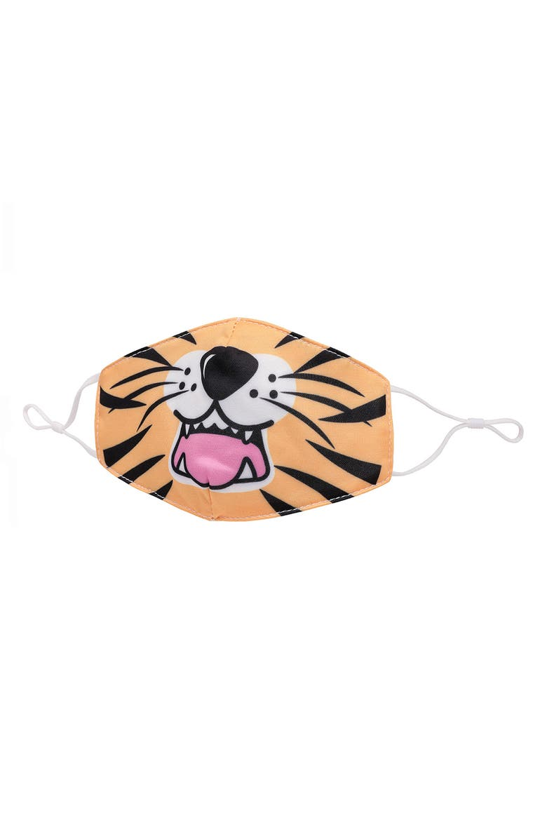 OMG ACCESSORIES Tiger Face Youth Face Mask, Main, color, ORANGE