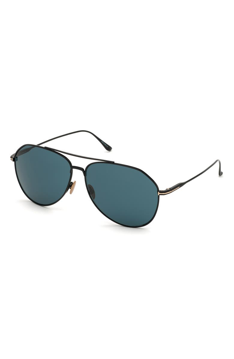 TOM FORD Cyrus 62mm Oversize Aviator Sunglasses, Main, color, 015