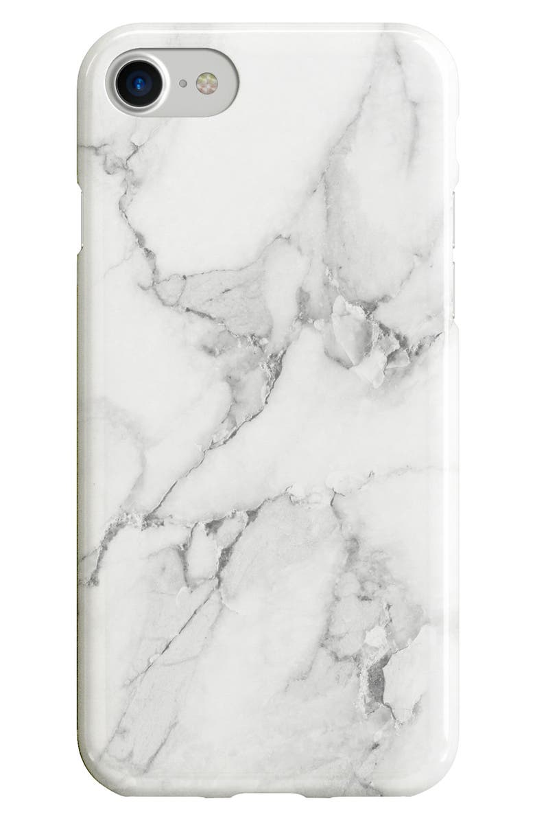 RECOVER White Marble iPhone 6/6s/7/8 & 6/6s/7/8 Plus Case, Main, color, 960