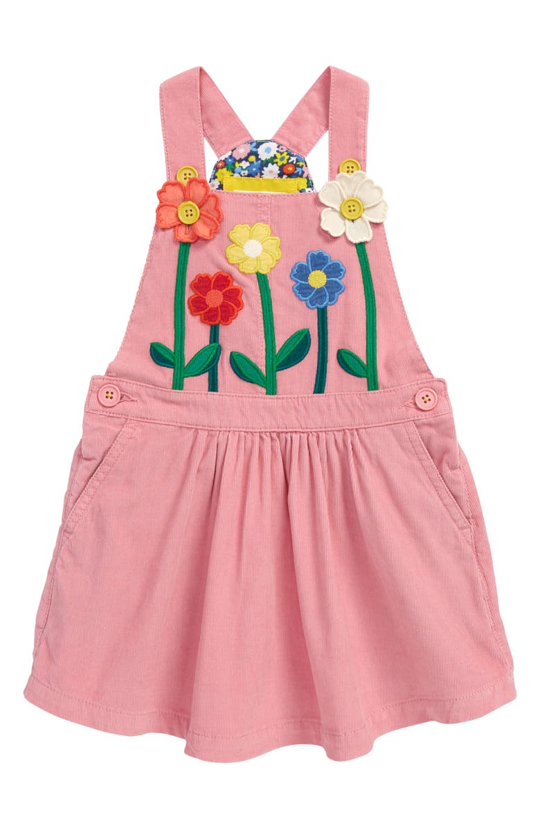 MINI BODEN Kids' Embroidered Corduroy Pinafore, Main, color, 664