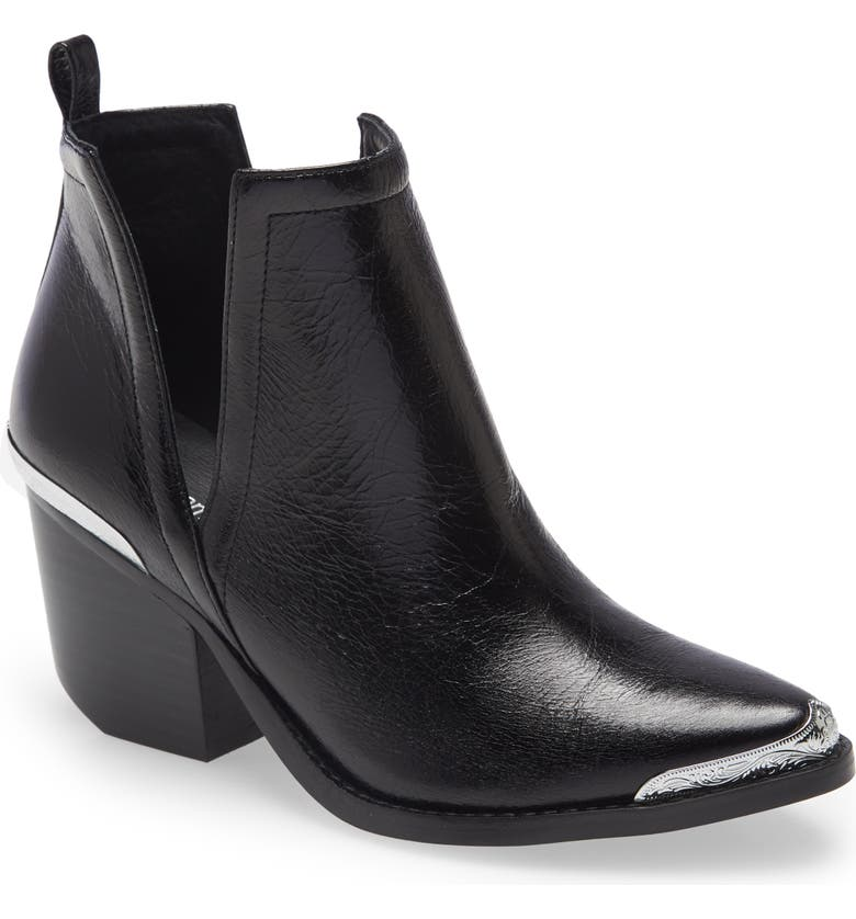 JEFFREY CAMPBELL Cromwell Cutout Western Boot, Main, color, BLACK LEATHER