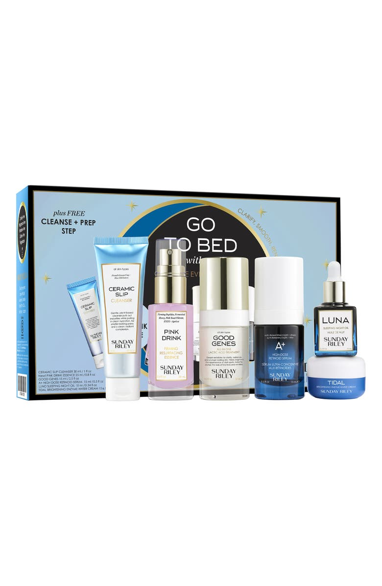 SUNDAY RILEY Go to Bed With Me Complete Anti-Aging Night Routine, Main, color, 000