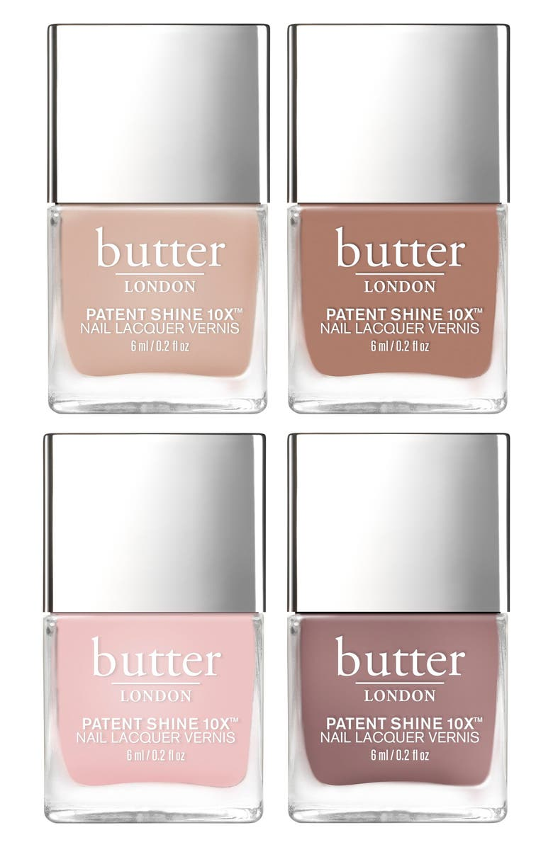 BUTTER LONDON Rosy to Red Patent Shine 10x<sup>™</sup> Nail Lacquer Set, Main, color, 250