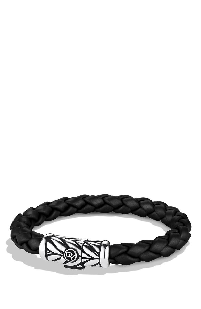 DAVID YURMAN Chevron Bracelet, Main, color, Black