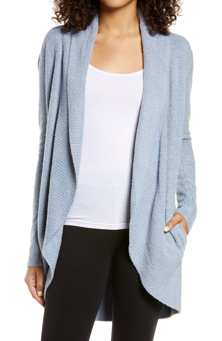 BAREFOOT DREAMS<SUP>®</SUP> CozyChic Lite<sup>®</sup> Circle Cardigan, Main, color, DENIM BLUE