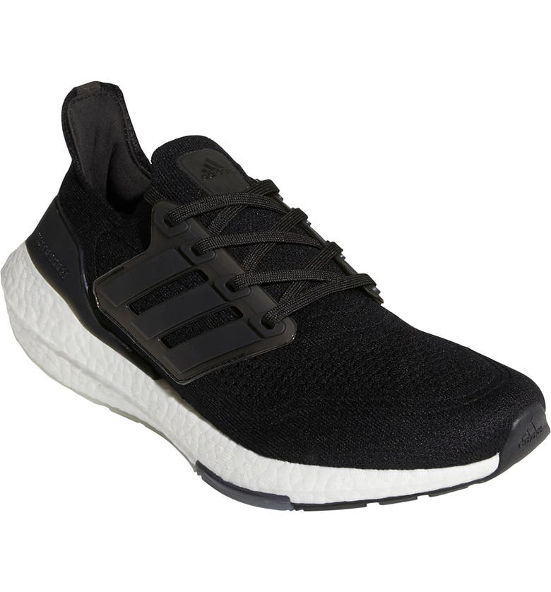 ADIDAS UltraBoost 21 Running Shoe, Main, color, BLACK/ BLACK/ GREY