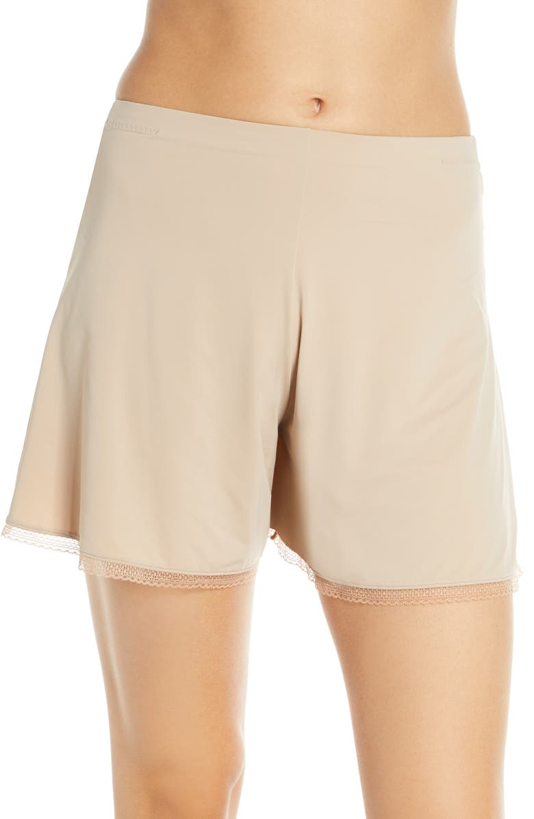 NATORI Benefit Half Slip Shorts, Main, color, CAFE