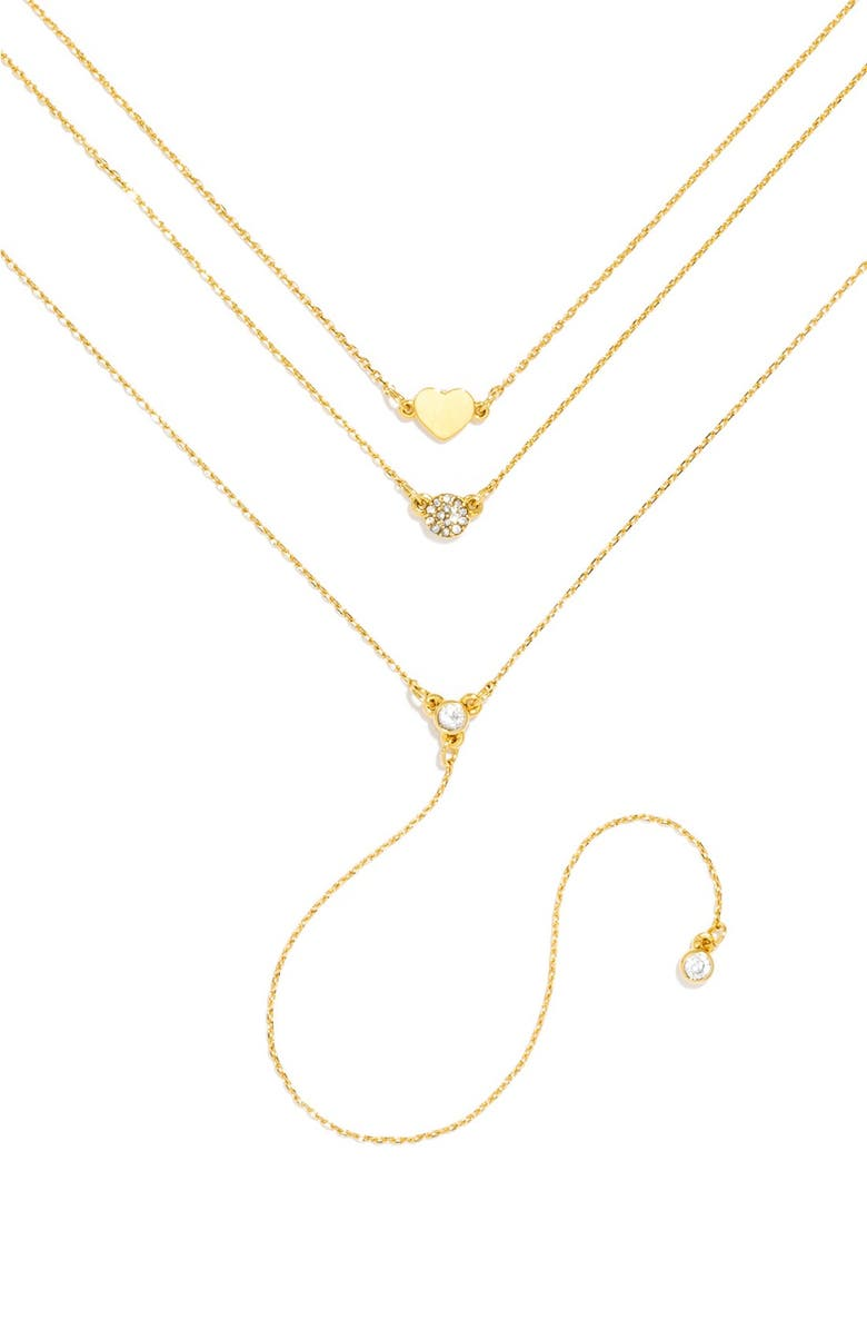 BAUBLEBAR 'Skinny Love' Layered Necklace, Main, color, Gold