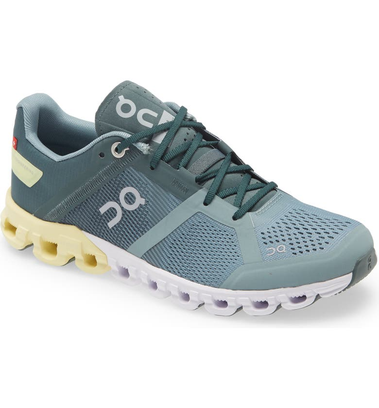 ON Shoes Cloudflow Running Shoe, Main, color, SEA/ LIMELINE