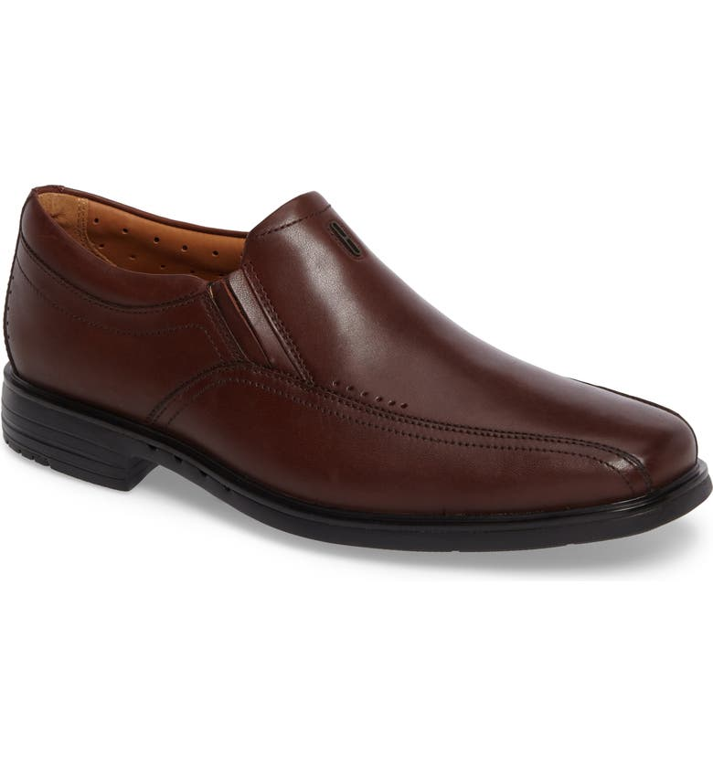 CLARKS<SUP>®</SUP> Un.Sheridan Go Loafer, Main, color, BROWN LEATHER