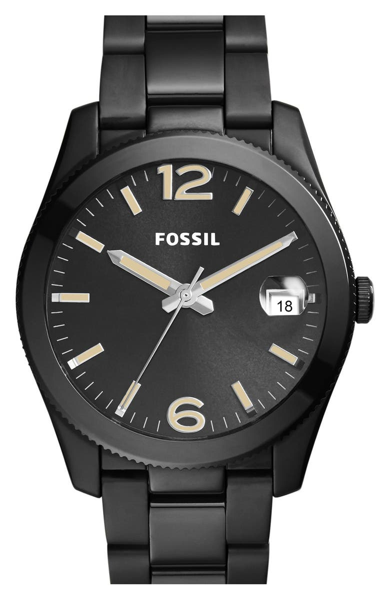 FOSSIL 'Perfect Boyfriend' Round Bracelet Watch, 39mm, Main, color, 001