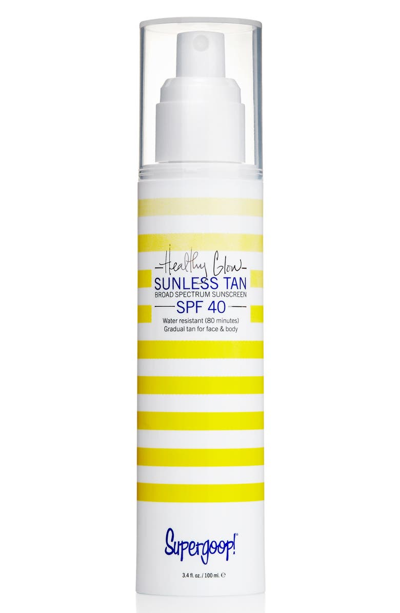 SUPERGOOP!<SUP>®</SUP> Supergoop! Healthy Glow Sunless Tan SPF 40, Main, color, WHITE