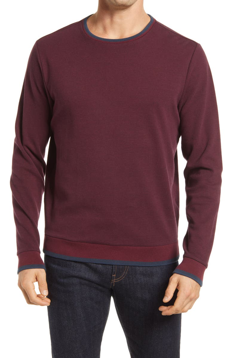 ROBERT BARAKETT Canondale Long Sleeve Pullover, Main, color, 930