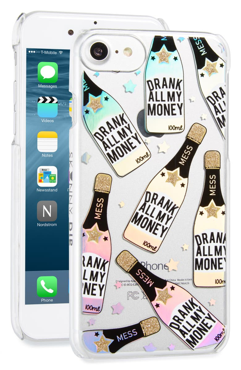 SKINNYDIP Drank All My Money iPhone 7 Case, Main, color, 040