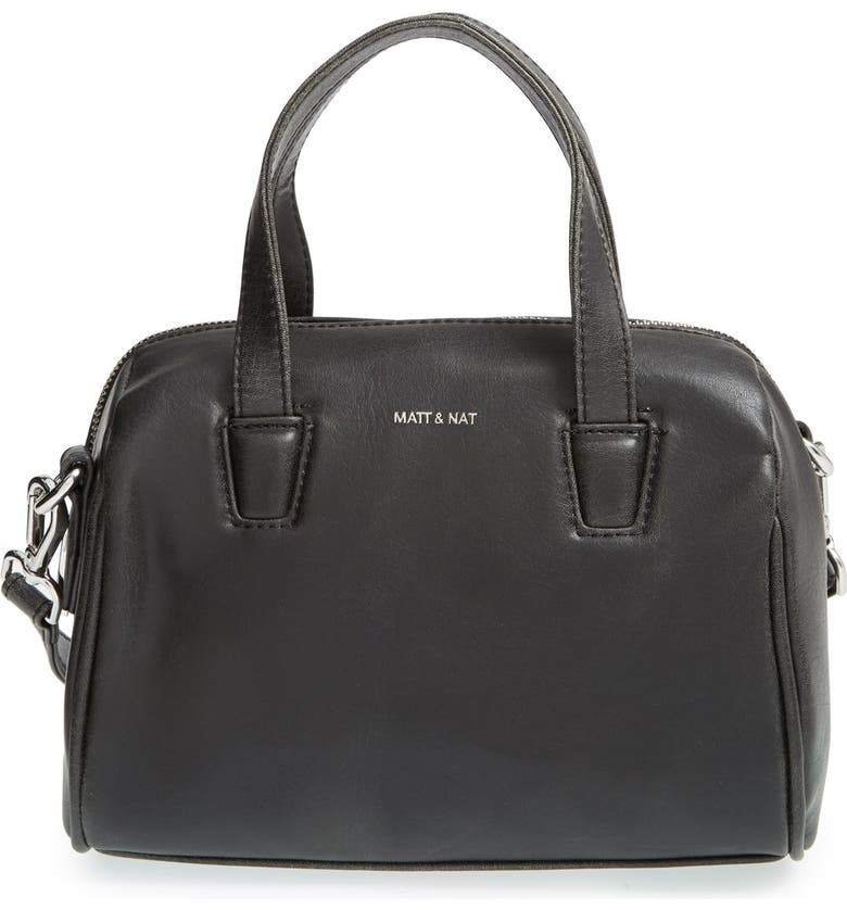MATT & NAT 'Mini Mitsuko' Vegan Leather Satchel, Main, color, 001