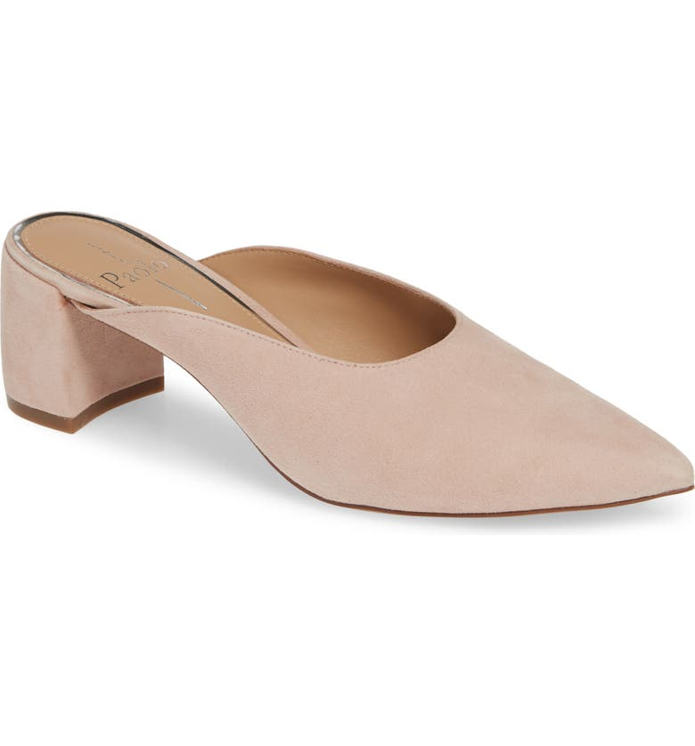 LINEA PAOLO Zadie Pointy Toe Mule, Main, color, BLUSH SUEDE