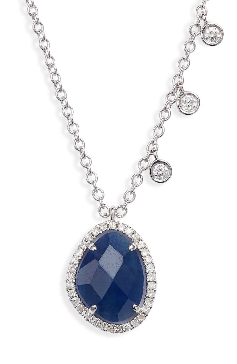 MEIRA T Sapphire & Diamond Pendant Necklace, Main, color, 700