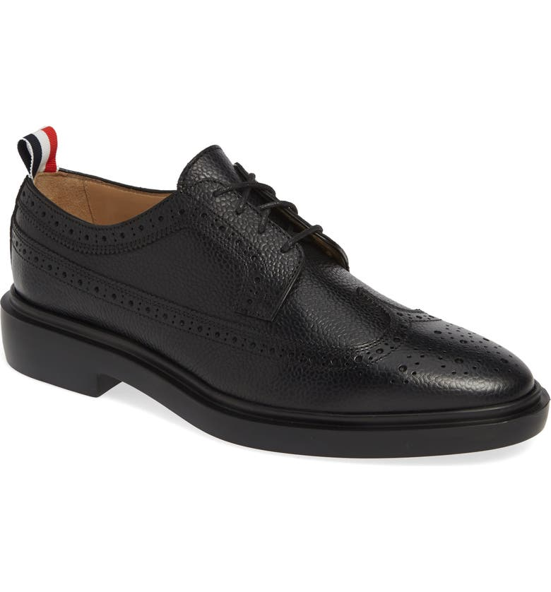THOM BROWNE Pebbled Longwing Derby, Main, color, 001