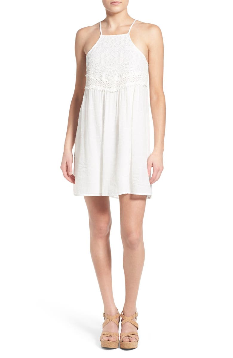 DEE ELLY dee elle Lace Bodice Shift Dress, Main, color, 101