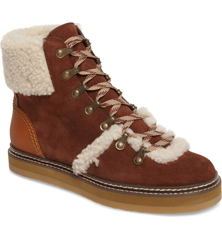 SEE BY CHLOÉ 'Eileen' Genuine Shearling Boot, Main, color, 210