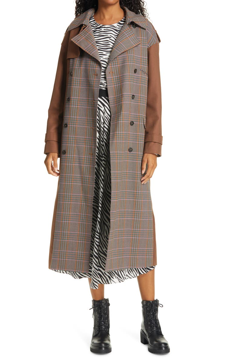 BIRGITTE HERSKIND Rina Double Breasted Trench Coat, Main, color, 230