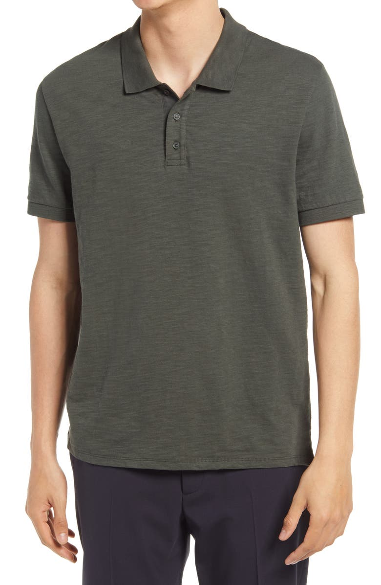 VINCE Classic Regular Fit Polo, Main, color, PINE NEEDLE