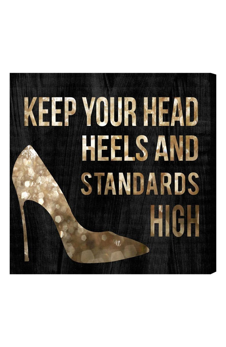 OLIVER GAL Head & Heels Canvas Wall Art, Main, color, Black