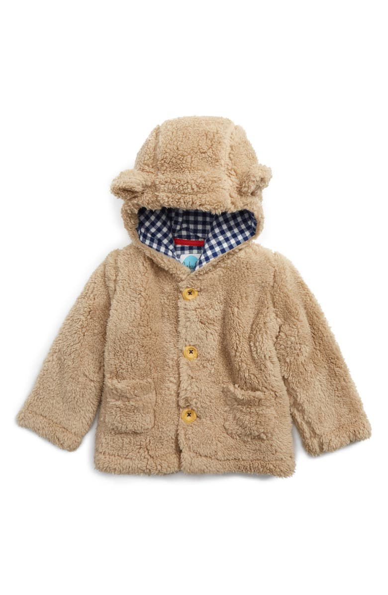 MINI BODEN Cozy Animal Faux Shearling Jacket, Main, color, 250
