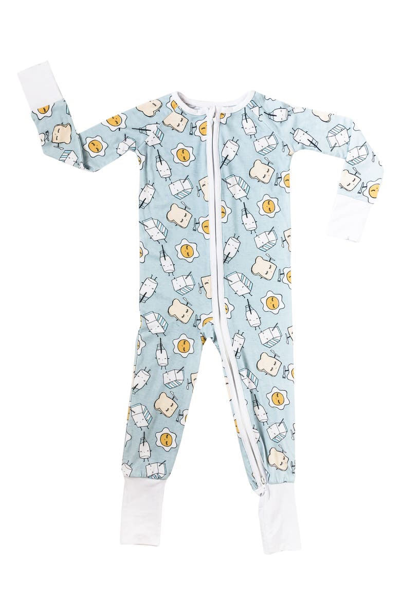 LITTLE SLEEPIES Breakfast Fitted One-Piece Pajamas, Main, color, 401