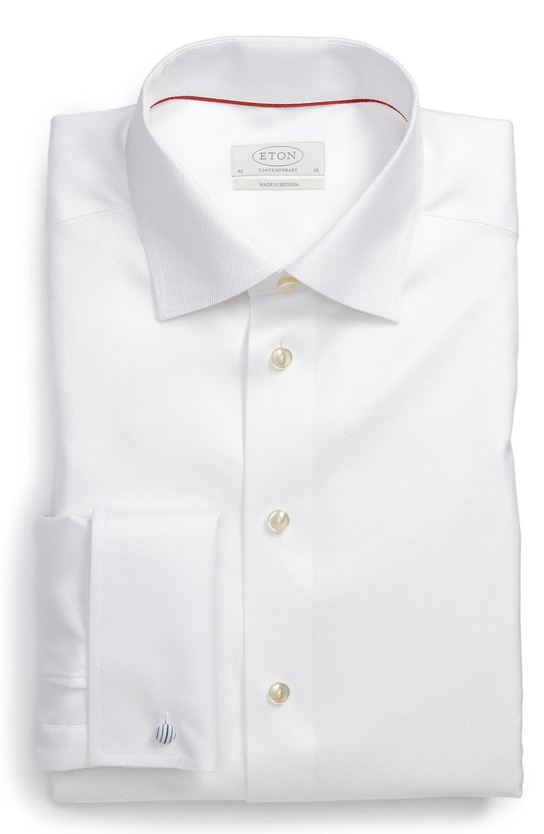 ETON Contemporary Fit Dress Shirt, Main, color, 100