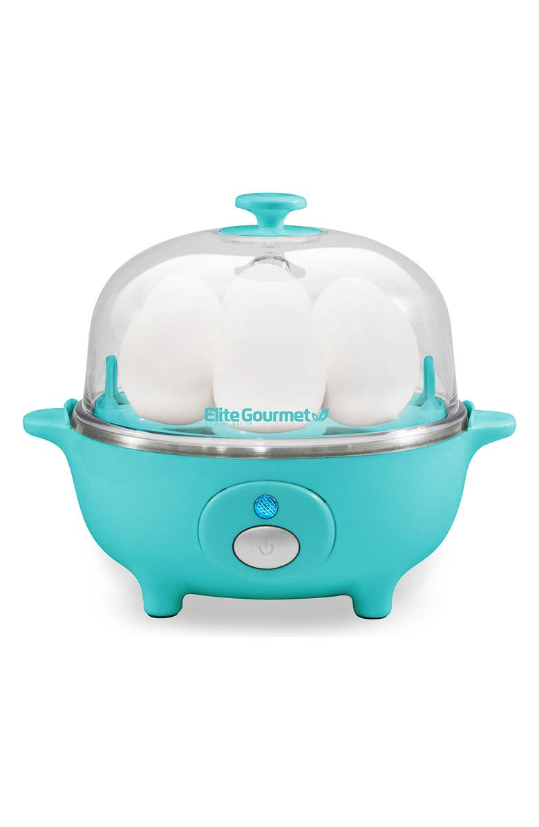 MAXI-MATIC Elite Cuisine EGC-007T Automatic Easy Egg Cookier - Teal, Main, color, TEAL