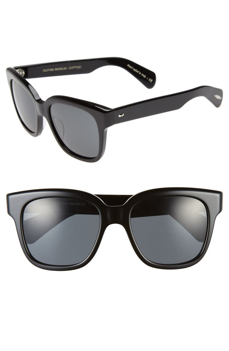 OLIVER PEOPLES 'Brinley' 54mm Retro Sunglasses, Main, color, 001