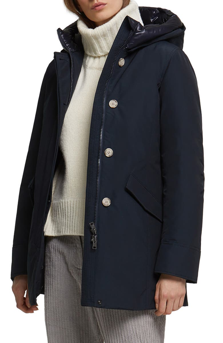 WOOLRICH Arctic Hooded Down Parka, Main, color, DARK NAVY