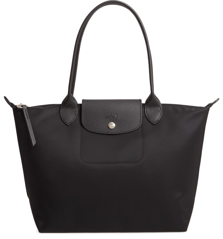 LONGCHAMP Small Le Pliage Tote, Main, color, BLACK