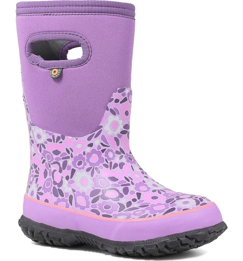 BOGS Grasp Ditsy Flower Waterproof Insulated Boot, Main, color, 546