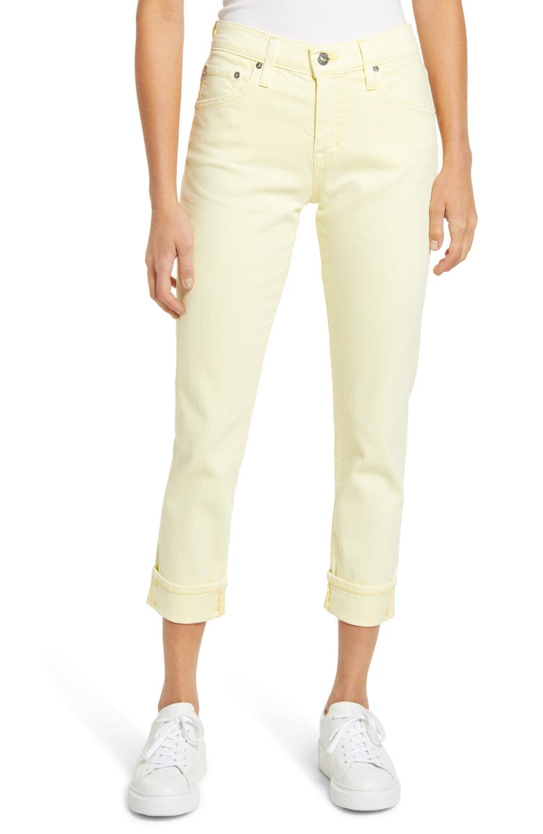 AG The Ex-Boyfriend Crop Slim Jeans, Main, color, 5 YEARS HI-WHITE MOROCCO SAND