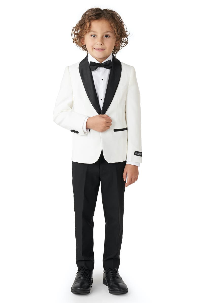 OPPOSUITS Kids' Two-Piece Tuxedo Suit with Bow Tie, Main, color, WHITE