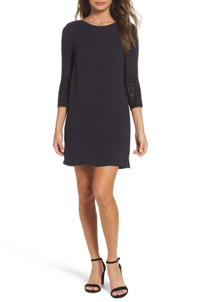FRENCH CONNECTION Ensor Crepe Shift Dress, Main, color, 420