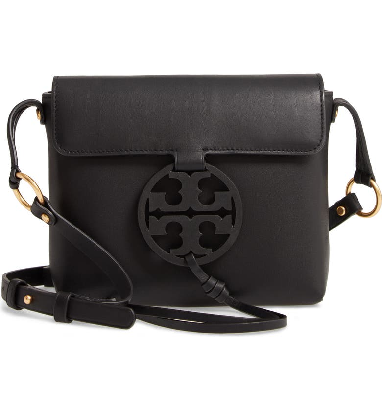 TORY BURCH Miller Leather Crossbody Bag, Main, color, 001