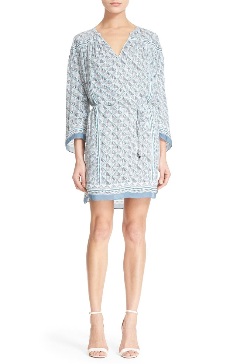 JOIE 'Chastain' Print Silk Dress, Main, color, 353